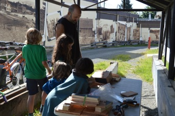 Forest Adam oversees kid-friendly bat house construction