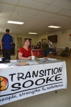 Volunteer Carolyn Barter welcomes drop-ins