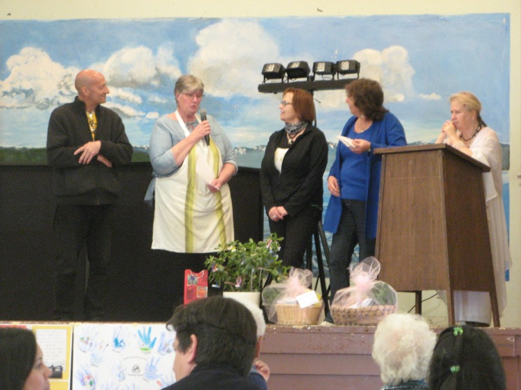 Moonfist and Wendy O'Connor distributed prizes at day's end for winners in the Sooke Region Communities Clean-Up