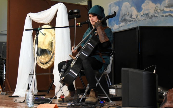 Cellist Dusty Townsend (aka Fish In A Birdcage) http://www.fishinabirdcage.com/music